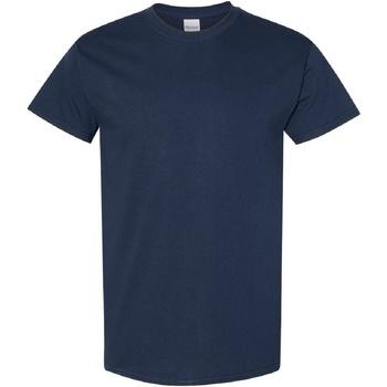 textil Herr T-shirts Gildan Heavy Marinblått