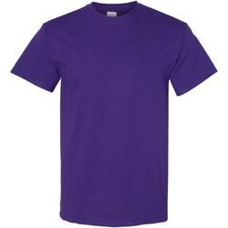 textil Herr T-shirts Gildan Heavy Lila