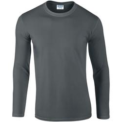 textil Herr Långärmade T-shirts Gildan 64400 Kol