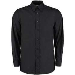 textil Herr Långärmade skjortor Kustom Kit KK140 Svart