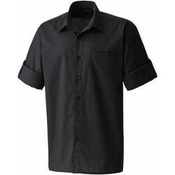 textil Herr Kortärmade skjortor Premier PR206 Svart