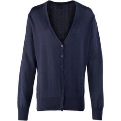 textil Dam Koftor / Cardigans / Västar Premier Button Through Marinblått