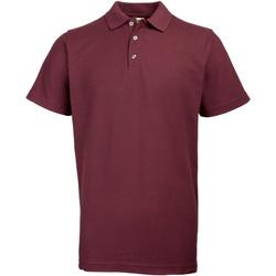 textil Herr Kortärmade pikétröjor Rty Workwear Heavyweight Bourgogne