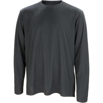 textil Herr Långärmade T-shirts Spiro S254M Svart
