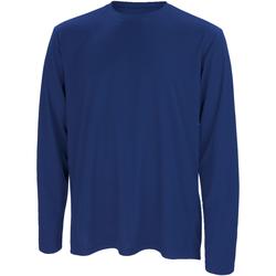 textil Herr Långärmade T-shirts Spiro S254M Marinblått