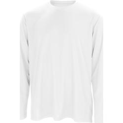 textil Herr Långärmade T-shirts Spiro S254M Vit