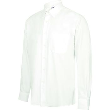 textil Herr Långärmade skjortor Henbury HB590 Vit