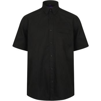 textil Herr Kortärmade skjortor Henbury HB595 Svart