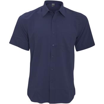 textil Herr Kortärmade skjortor Henbury HB595 Marinblått