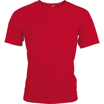 textil Herr T-shirts Kariban Proact PA438 Röd