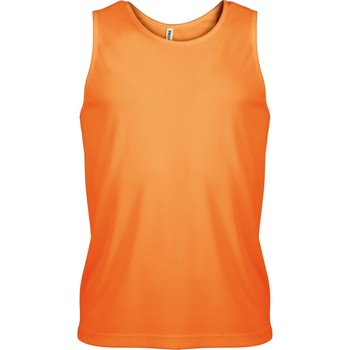 textil Herr Linnen / Ärmlösa T-shirts Kariban Proact PA441 Orange
