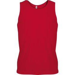 textil Herr Linnen / Ärmlösa T-shirts Kariban Proact PA441 Röd