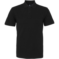textil Herr Kortärmade pikétröjor Asquith & Fox AQ010 Svart