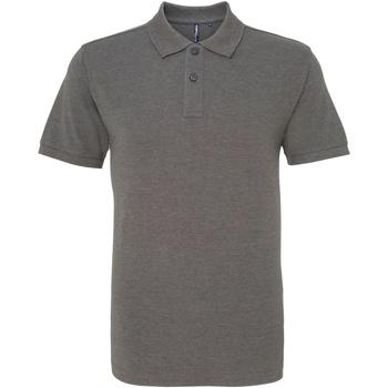 textil Herr Kortärmade pikétröjor Asquith & Fox AQ010 Kol