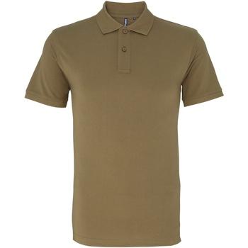 textil Herr Kortärmade pikétröjor Asquith & Fox AQ010 Khaki