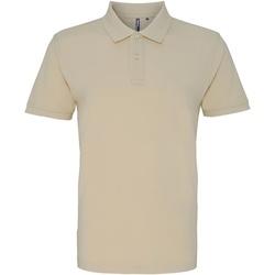 textil Herr Kortärmade pikétröjor Asquith & Fox AQ010 Naturligt