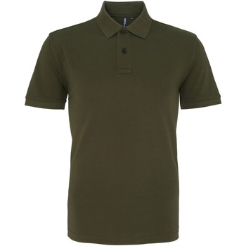 textil Herr Kortärmade pikétröjor Asquith & Fox AQ010 Olive
