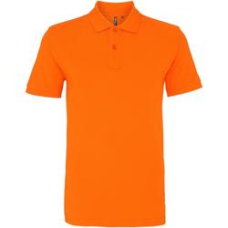 textil Herr Kortärmade pikétröjor Asquith & Fox AQ010 Orange