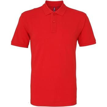 textil Herr Kortärmade pikétröjor Asquith & Fox AQ010 Röd