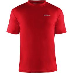 textil Herr T-shirts Craft CT086 Röd