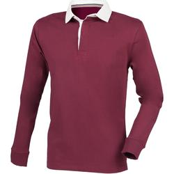textil Herr Långärmade pikétröjor  Front Row FR104 Bourgogne