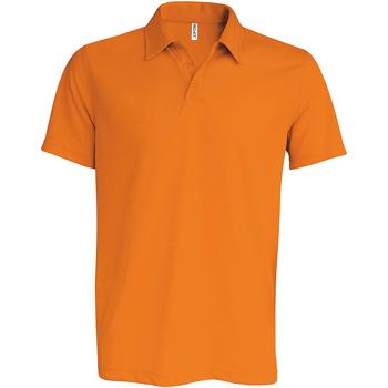 textil Herr Kortärmade pikétröjor Kariban Proact PA482 Orange