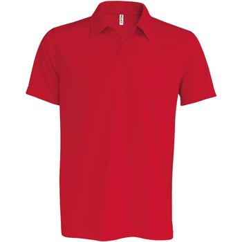 textil Herr Kortärmade pikétröjor Kariban Proact PA482 Röd