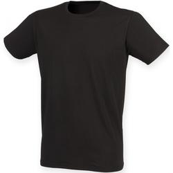 textil Herr T-shirts Skinni Fit SF121 Svart
