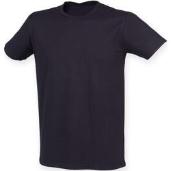 textil Herr T-shirts Skinni Fit SF121 Marinblått