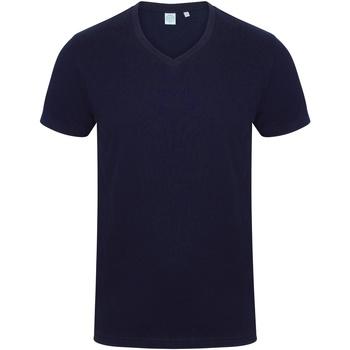 textil Herr T-shirts Skinni Fit SF122 Marinblått
