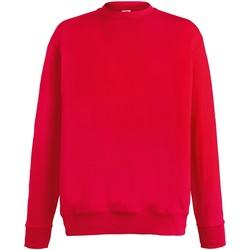 textil Herr Sweatshirts Fruit Of The Loom SS926 Röd