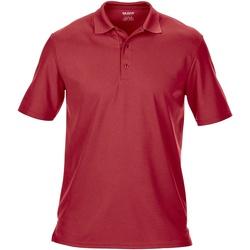 textil Herr Kortärmade pikétröjor Gildan GD046 Röd