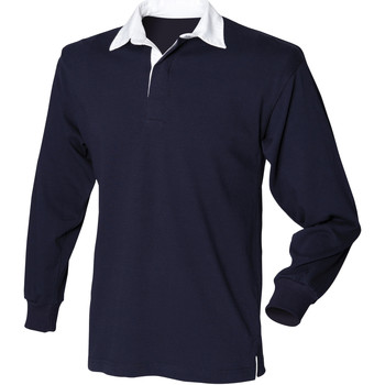 textil Herr Långärmade pikétröjor  Front Row Rugby Marinblått