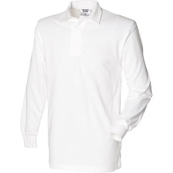 textil Herr Långärmade pikétröjor  Front Row Rugby Vit