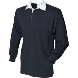 textil Herr Långärmade pikétröjor  Front Row Rugby Svart
