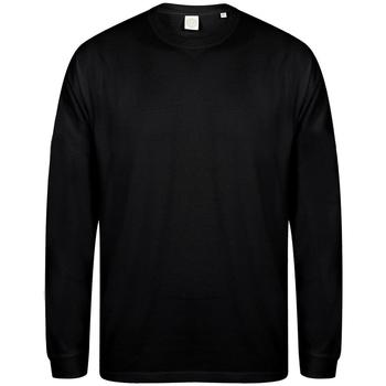 textil Herr Sweatshirts Skinni Fit Slogan Svart