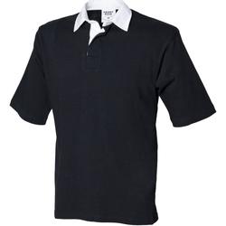 textil Herr Kortärmade pikétröjor Front Row FR03M Svart