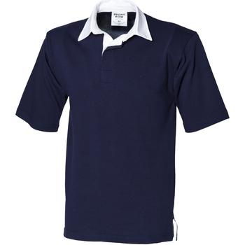 textil Herr Kortärmade pikétröjor Front Row FR03M Marinblått