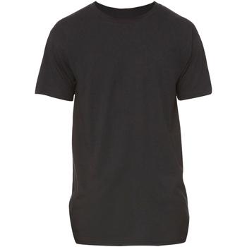 textil Herr T-shirts Bella + Canvas Long Body Svart