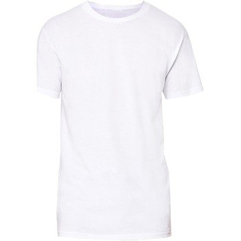 textil Herr T-shirts Bella + Canvas Long Body Vit
