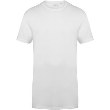 textil Herr T-shirts Skinni Fit Dipped Hem Vit