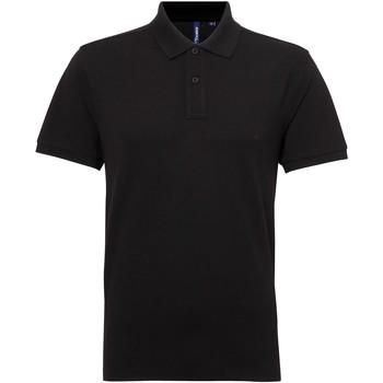 textil Herr Kortärmade pikétröjor Asquith & Fox AQ015 Svart