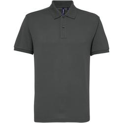 textil Herr Kortärmade pikétröjor Asquith & Fox AQ015 Kol