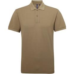 textil Herr Kortärmade pikétröjor Asquith & Fox AQ015 Khaki