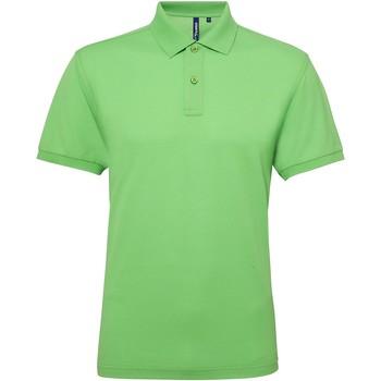 textil Herr Kortärmade pikétröjor Asquith & Fox AQ015 Lime