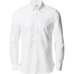 textil Herr Långärmade skjortor Nimbus NB66 Vit