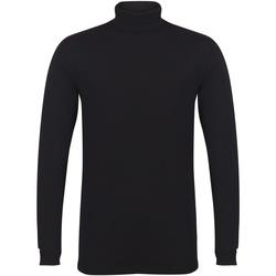 textil Herr Långärmade T-shirts Skinni Fit SF125 Svart