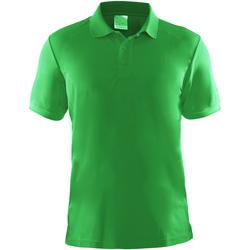 textil Herr Kortärmade pikétröjor Craft CT045 Grön