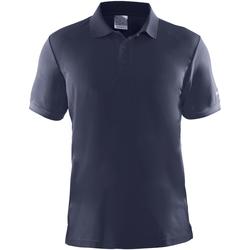 textil Herr Kortärmade pikétröjor Craft CT045 Marinblått
