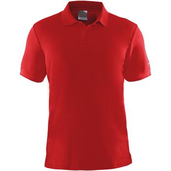 textil Herr Kortärmade pikétröjor Craft CT045 Röd